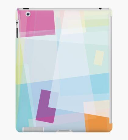 ice blue and purple - abstract case design iPad Case/Skin