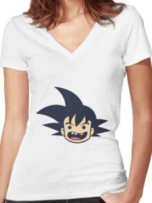 Goku Dragon Ball Women's Fitted V-Neck T-Shirt