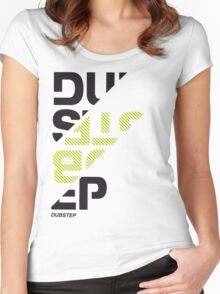 Dubstep sliced v01 Women's Fitted Scoop T-Shirt