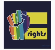 Equal Rights Gay Pride Bumper Sticker by Huzzah Inc