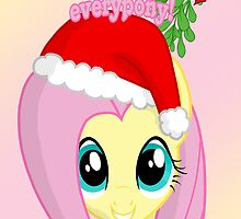 Fluttershy Chirstmas Card - Postcard My Little Pony by FalakTheWolf