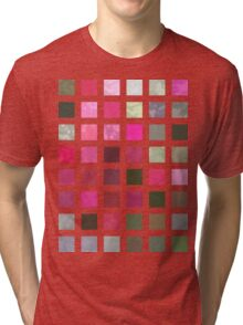Crape Myrtle Abstract Rectangles 2 Tri-blend T-Shirt