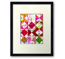 Crape Myrtle Abstract Triangles 1 Framed Print