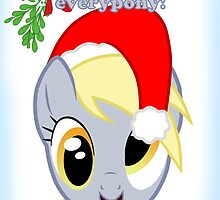 Derpy Hooves Christmas Card - Postcard My Little Pony by FalakTheWolf