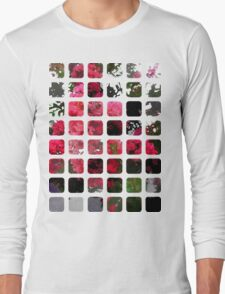 Crape Myrtle Art Rectangles 1 Long Sleeve T-Shirt