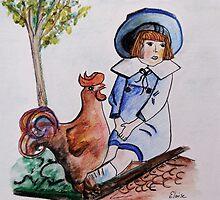 Rooster Breath by EloiseArt