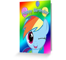 Rainbow Dash Birthday Card - Postcard My Little Pony Greeting Card