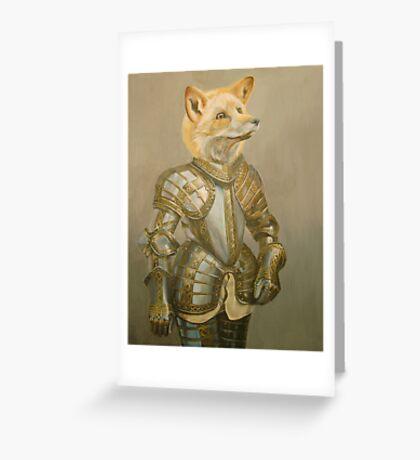 Fox Knight Greeting Card