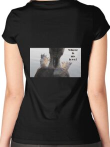 Where is my love? Women's Fitted Scoop T-Shirt