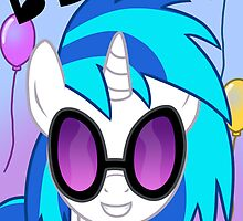 Vinyl Scratch Birthday Card - Postcard My Little Pony by FalakTheWolf