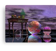 Surrealistic Christmas card with Text Canvas Print