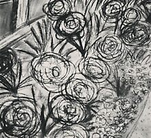 Flowers in Charcoal by sophtoria33