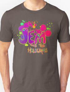 Jem & The Holograms-Paint Splatter Logo Unisex T-Shirt