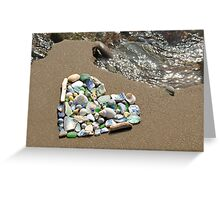 Heart on Sand Greeting Card