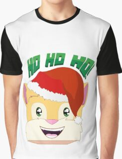 "Minecraft Youtuber Stampy Cat - Santa / Christmas / Winter / Holiday Limited Edition ""Ho Ho Ho!"" Graphic T-Shirt"