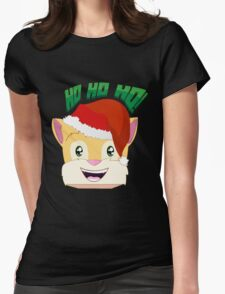 """Minecraft Youtuber Stampy Cat - Santa / Christmas / Winter / Holiday Limited Edition """"Ho Ho Ho!"""" Womens Fitted T-Shirt"""