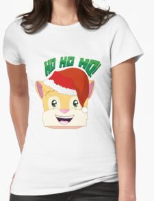 "Minecraft Youtuber Stampy Cat - Santa / Christmas / Winter / Holiday Limited Edition ""Ho Ho Ho!"" Womens Fitted T-Shirt"