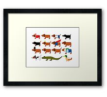 Sneaky Dog and friends Framed Print