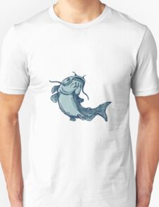 Catfish Mud Cat Jumping Up Drawing T-Shirt
