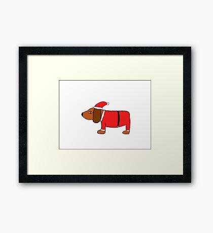 Christmas Sneaky Dog Framed Print