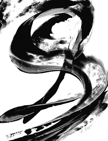 Black Magic 307 - Black And White Art by Sharon Cummings