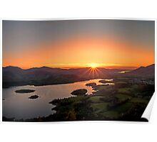Sunset over Keswick Poster