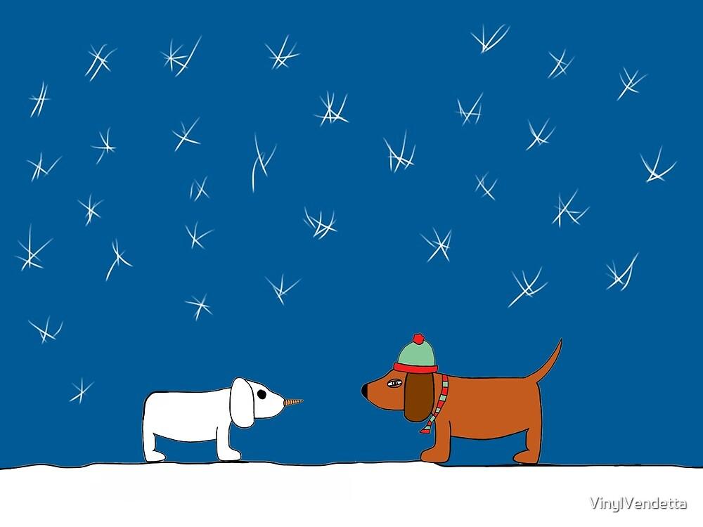 Christmas Snow Scene by VinylVendetta