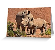 Mother and daughter....... Greeting Card