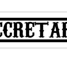 secretary Sticker