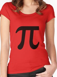 Pi Flavour Orange Women's Fitted Scoop T-Shirt