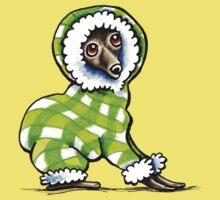 Italian Greyhound Happy Plaid Snowsuit by offleashart