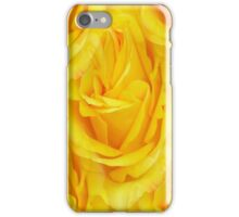 Modern Abstract Seamless Yellow Rose Petals iPhone Case/Skin