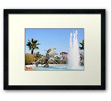 Dolphin Fountain Framed Print