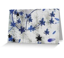 Stylish vintage Chinoiserie floral print Greeting Card