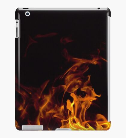 Flames in the dark iPad Case/Skin