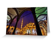 The Blue Mosque Greeting Card