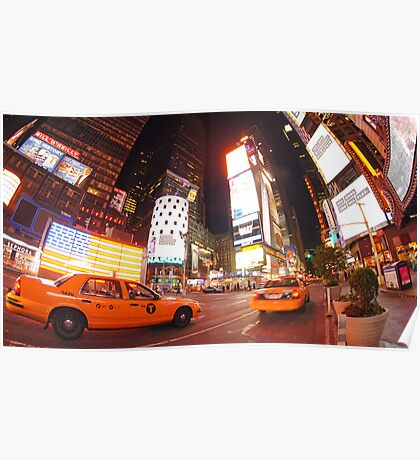Times square cabs Poster