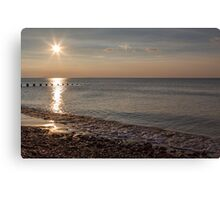Sunset and reflection Canvas Print