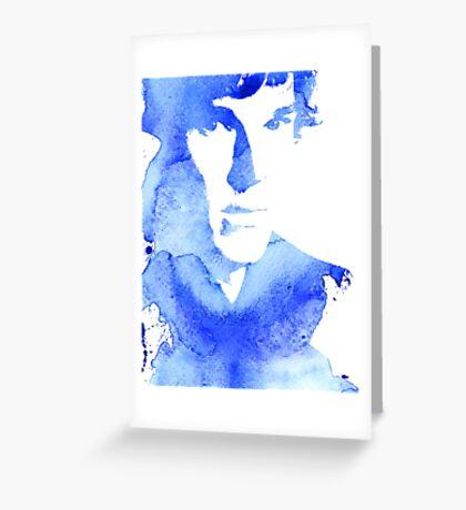 sherlock in blue Greeting Card