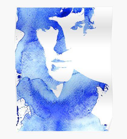 sherlock in blue Poster