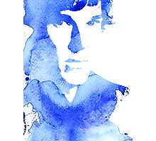 sherlock in blue Photographic Print