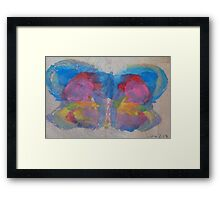 Pastel Ice Cream Butterfly Framed Print