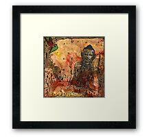 Ink Buddha Framed Print