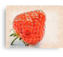 Ripe strawberry Canvas Print