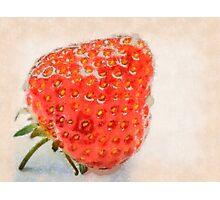 Ripe strawberry Photographic Print