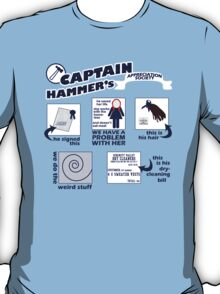 Captain Hammer's Appreciation Society T-Shirt