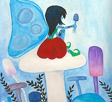 Blue Fairy of the Mushrooms by Emily Alexander