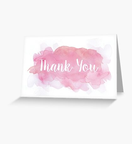 Thank You Watercolor Greeting Card Greeting Card