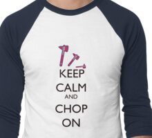 Choptober black Men's Baseball ¾ T-Shirt