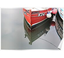 Red bow, reflected Poster